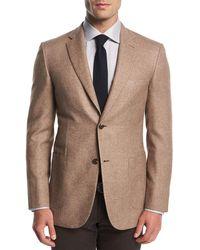 Brioni - Melange Silk-cashmere Two-button Blazer - Lyst