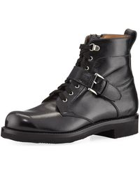 Gravati - Textured Leather Hiking Boot - Lyst