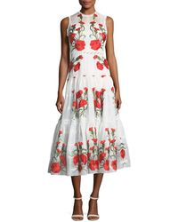 Alexis - Leomie Sleeveless Floral-embroidered Dress - Lyst