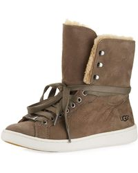 UGG® Starlyn Hi Top Sheepskin Sneakers