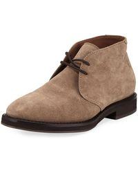 Brunello Cucinelli   Men's Suede Desert Boot   Lyst