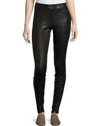 Elizabeth and James - Eddine Leather High-waist Skinny Pants - Lyst