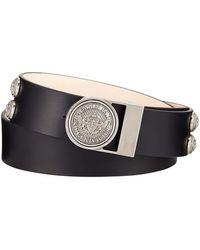 Balmain - Valley Medallion-detail Leather Belt - Lyst