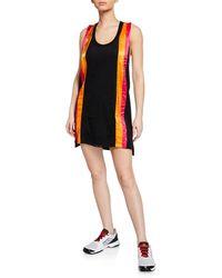 NO KA 'OI Ka Paa Paneled Racerback Short Dress - Black