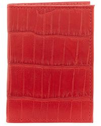 Neiman Marcus Alligator Flip Card Case - Red
