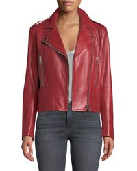 Belstaff - Marving-t Lambskin Leather Moto Jacket - Lyst