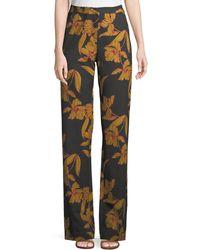 A.L.C. Vaughn Floral-print Straight-leg Pants - Multicolour
