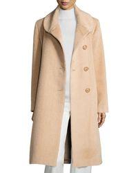 Sofia Cashmere Round-collar Alpaca/wool Coat - Natural