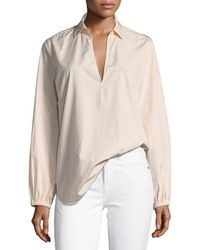 Vince - Swing-front Pullover Long-sleeve Top - Lyst