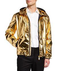 Ralph Lauren - Men's Essex Metallic Zip-front Hooded Coat - Lyst