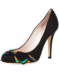 Emilio Pucci - Satin Pump With Printed Bow - Lyst