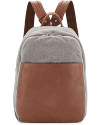 Brunello Cucinelli - Men's Leather & Wool-cashmere Tech Backpack - Lyst