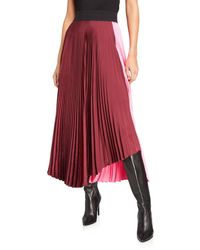 A.L.C. Grainger Pleated Colorblock Skirt - Pink