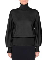 Agnona - Bishop-sleeve Wool Turtleneck Sweater - Lyst