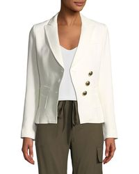 Smythe - Double-breasted Three-button Wrap Blazer - Lyst