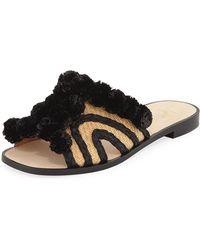 Joie - Paden Pompom Flat Slide Sandal - Lyst