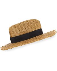Eric Javits Squishee Cannes Boater Hat - Multicolour