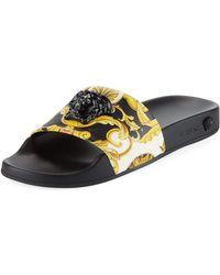 Versace - Palazzo Medusa Pool Slide Sandals - Lyst