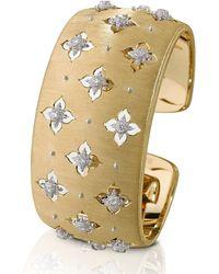 Buccellati Macri Giglio 18k Yellow Gold Diamond Cuff, 3cm - Metallic