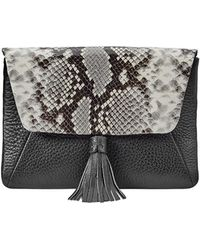 Gigi New York Aveline Snake-print Clutch Bag - Multicolour