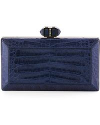 Judith Leiber Couture - Coffered Crocodile Minaudiere - Lyst