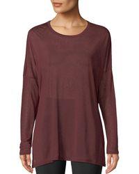 050aa72493 Lyst - Rag & Bone Arrow Striped Long-sleeve T-shirt in Red