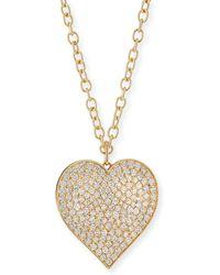 "Sydney Evan Supersize Pave Diamond Heart Pendant Necklace, 18"" - Multicolour"