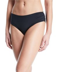 Carmen Marc Valvo - Side-shirred Full-coverage Bikini Bottoms - Lyst