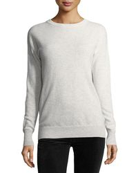 Autumn Cashmere | Long-sleeve Crossover-back Sweater W/ Velvet Tie | Lyst