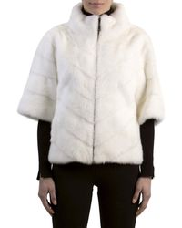 Gorski - Chevron Mink Fur Topper Jacket - Lyst