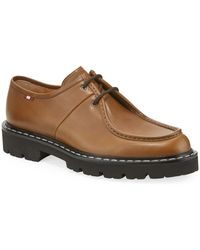 Bally Men's Lug-sole Leather Derby Shoes - Brown