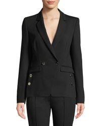 ESCADA - Double-breasted Jersey Jacket - Lyst