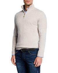 Neiman Marcus - Men's Cashmere Quarter-zip Sweater - Lyst