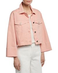 Elizabeth and James - Branson Cropped Boxy Denim Jacket - Lyst