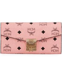 MCM - Patricia Visetos Two-fold Wallet-on-chain - Lyst