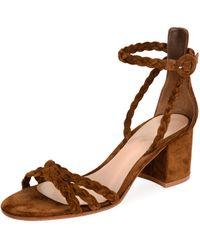 Gianvito Rossi - Braided Suede 60mm Sandal - Lyst