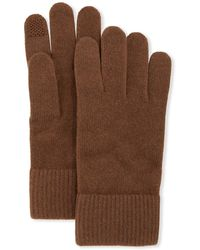 Portolano Cashmere Touchscreen Gloves - Brown