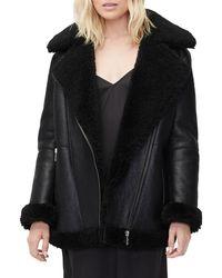 UGG Arrabela Shearling Moto Jacket - Black