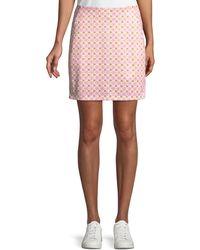Tory Sport - Printed A-line Golf Skirt - Lyst