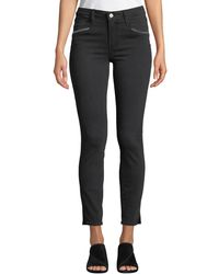 PAIGE - Roxxi High-rise Ankle Skinny Jeans With Zipper Trim - Lyst