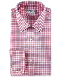 Charvet - Check Cotton Dress Shirt - Lyst