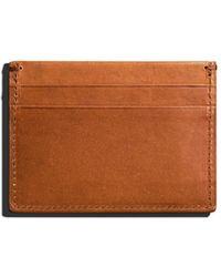 Shinola Five-pocket Leather Card Case - Brown