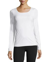 Wolford - Pure Long-sleeve Pullover Top - Lyst