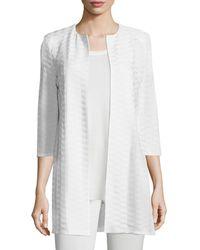 Misook - Textured Long Open Jacket - Lyst