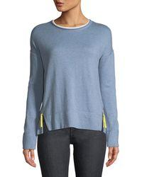 Lisa Todd - Zipline Sweater W/ Side Zipper Detail - Lyst