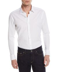 Zegna Sport - Solid Jacquard Sport Shirt - Lyst