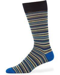 Neiman Marcus - Men's Multi Micro-stripe Mercerized Cotton Socks - Lyst