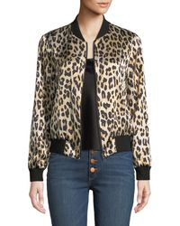 Alice + Olivia - Lonnie Reversible Silk Bomber Jacket - Lyst