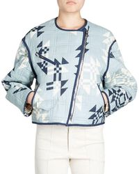 Isabel Marant | Lazel Zip-front Origami-printed Quilted Jacket | Lyst