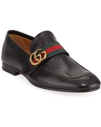 f3030b2fc26 Lyst - Gucci Donnie GG Leather Loafers in Blue for Men